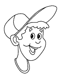 a boy put baseball cap on his head coloring page coloring sun