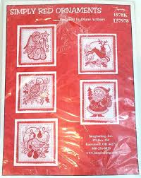 christmas cross stitch kit 1978k simply red ornaments santa angel