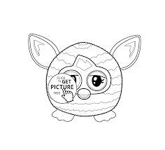 furby toy coloring pages for kids printable free coloing 4kids com