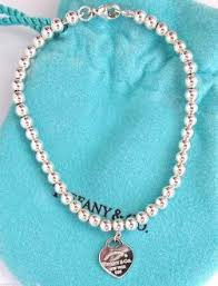 silver bead necklace tiffany images Tiffany silver return 2 tiffany ny heart tag charm 4mm ball bead jpg
