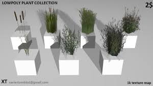 Arkansas vegetaion images Low poly plants and grass 3d model cgtrader jpg