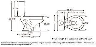 size of toilet barclay devon round toilet dims and also captivating plan barclay