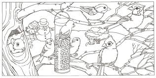 winter animal coloring pages getcoloringpages