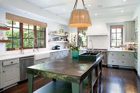 green kitchen islands the forest green kitchen island gives the space a pop of color