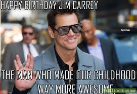 Jim Carey Meme - happy birthday jim carrey troll football