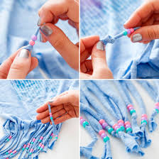 festival style hack how to dye bead and fringe your t shirts via