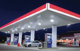 led gas station light improve safety with gas station led lighting