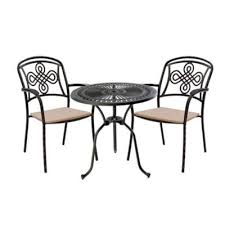 Aluminium Bistro Chairs 2 Chairs Aluminium Garden Furniture For Two Outside Edge Metal