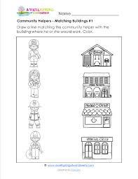 community helpers worksheets for preschool printables preschool