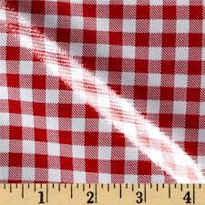 Gingham Vs Plaid Vs Tartan Oilcloth Gingham Red Discount Designer Fabric Fabric Com