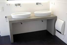 badezimmer waschtisch badezimmer waschtisch beton mit doppel aufsatzwaschbecken