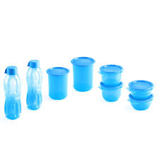 signoraware 8 pc center press water bottles set blue combos