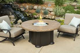 round propane fire pit table patio ideas round propane fire pit table with book reading brilliant