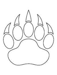 paw print template paw print pattern use the printable outline for crafts