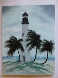 original painting cape florida lighthouse