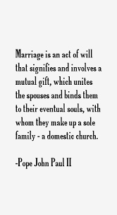 wedding quotes paul ii pope paul ii quotes sayings