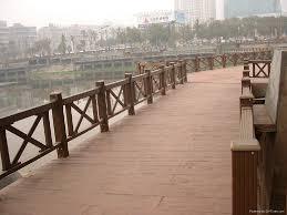 wood plastic composite railing k50 85 guofeng china