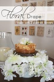 how to make a floral drape using silk flowers country design style