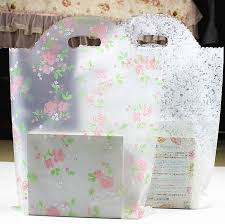 6 size 45x60cm large plastic gift bag with handles small garment