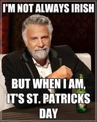 Funny St Patricks Day Meme - i m not always irish but when i am it s st patricks day the