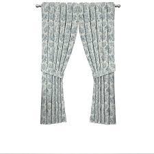 Waverly Curtain Panels Shop Waverly Charmed 84 In Cornflower Cotton Back Tab Single