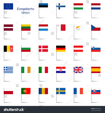 States Flags Eu Member States Flags Stock Vector 200988311 Shutterstock