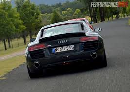 Audi R8 Back - 2013 audi r8 v8 review quick spin performancedrive