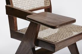 Rattan Desk Chair Teak And Wicker Desk Chairs By Pierre Jeanneret Set Of 2 For Sale