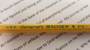Hues Of Yellow General U0027s Badger 2 U2014 The Weekly Pencil
