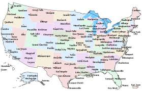 map reading practice major cities in the usa enchantedlearningcom most populated major