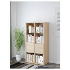 Kallax Kallax Shelving Unit With Doors White Stained Oak Effect 147x77 Cm