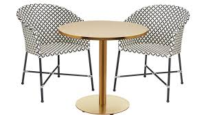 Cb2 Patio Furniture by Watermark Brass Bistro Table Cb2