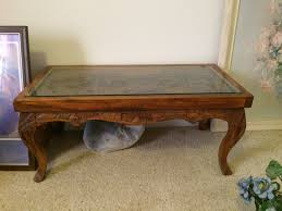 hand carved coffee table phillipine glass top hand carved coffee table my antique furniture