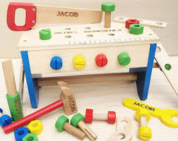 Boys Wooden Tool Bench Personalized Tools Etsy