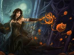 my free wallpapers fantasy wallpaper halloween witch screen