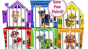 learning colors video children paw patrol jail rescue
