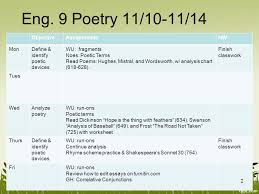 english 9 unit 3 week 2 poetry 1 eng 9 poetry 11 10 11 14