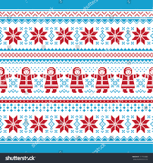 vector card traditional knitted pattern stock vector
