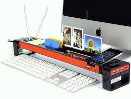 Mac Desk Accessories Cool Office Desk With Gadgets Organizer And Other Accessories Plus