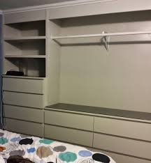 Built In Closet Drawers by Ikea Hack Built In Wardrobe Using Malm Dressers Laundry Room