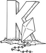kites coloring free printable coloring pages