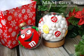 ornament gift m m gift set m m ornament and candy snow globe will cook for smiles