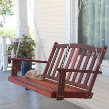 Gazebo Porch Swing by Furniture Classic Wooden Porch Swings With Iron String For