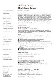 brilliant ideas of sample resume of hospitality management in