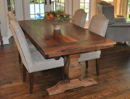 Dining Room Narrow Farmhouse Table With Emmerson Dining Table Trestle Dining Table