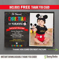 vintage minnie u0026 mickey birthday ticket invitations instant