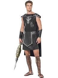 70s Halloween Costumes Men Fever Male Dark Gladiator Costume Joke Shop