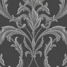 Black And Gold Damask Curtains by Wallpaper Wallpaper U0026 Borders The Home Depot