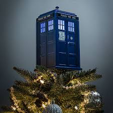 tree topper doctor who tardis tree topper with light thinkgeek