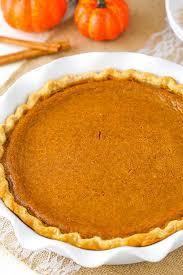 classic pumpkin pie and sugar